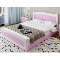 Buy cheap Modern Apperance King Size Pine Bed , Single Wooden Frame Beds With Drawers product