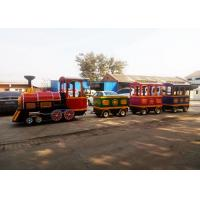 Quality Pollution Free Trackless Train Amusement Ride With Smoke Steam Spray Device for sale
