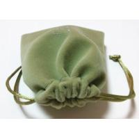 Quality Green Eco - friendly Mini Velvet Drawstring Bag Handmade Velvet Bag for sale