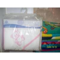 Quality 100% Cotton Baby Hooded Towel With Embroidery for sale