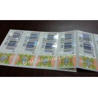 Buy cheap Waterproof 15 microns Anti - Counterfeit Sticker Security Label , Security Hologram Sticker product