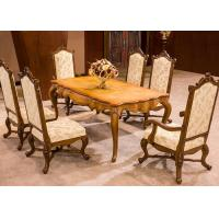 Quality OEM Antique Luxury Dining Room Furniture , Dining Room Table And Chair Sets for sale