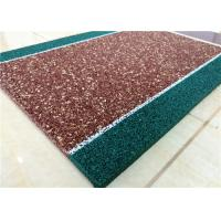 Non Toxin Playground Rubber Flooring , Recyclable Rubber Pellets For Playground