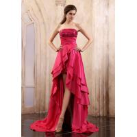 China Alluring Asymmetrical Ruffle Celebrity Dresses Strapless Party Dress Evening Gown 2013 on sale