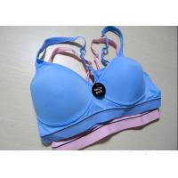 Quality Blue, Purple Breathable Wirelesss 38H Elastic Eco-Friendly OEM Front Closure Sports Bra for sale