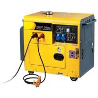 Quality Soundproof Portable Diesel Generator Vertical 170A DC 4KW for sale