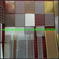 Quality curtain wall perforated mesh wall panels/perforated metal mesh curtian wall for sale