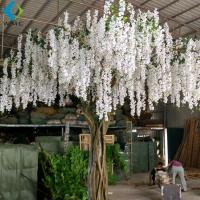 White Artificial Flower Tree For Wedding , 5-10 Years Life Time Faux Flower Tree for sale