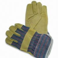 Quality Pig Leather Working Gloves, Measures 10.5-inch, Logo Printings are Accepted for sale