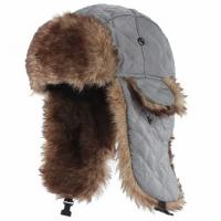 Quality Mens Fake Trapper Ski Wool Winter Hat For Fingerless Glove Strings Buckle Closure for sale