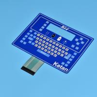 Buy cheap Simple color /Button raised and Large size control membrane switch from wholesalers