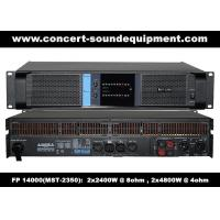 Buy cheap High Output 2x2400W FP 14000 Switching Power Amplifier With NOVER Power Capacitors product