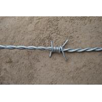 China Four Barbs Electric Zinc Barbed Wire Double Strand With 2.1mm Diameter on sale