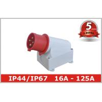 Quality Single Phase 32A IP44 Industrial Plugs / Industrial Power Sockets for sale