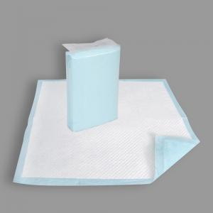 Quality PE Film Backsheet Fluff Pulp SAP High Absorption Disposable Underpads for sale