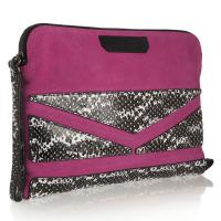 Quality Party / Evening Bag , Suede Leather Wristlet Bag OEM Private Label for sale
