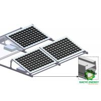 Buy Framed PV Module Ballasted Solar Flat Roof Mounting System Penetration Free Solar Brackets at wholesale prices