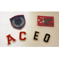 Quality Fancy Artcial Letter Embroidered Name Patches For Kid Garment Plain Back,Felt Material for sale