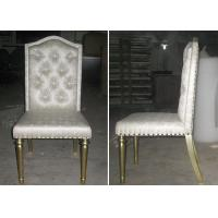 Quality OEM Hotel Gold Leaf Fabric Modern Dining Room Chairs With Button - Tufted for sale