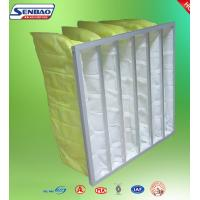 Quality Yellow Industrial Air Filters High Efficiency Multi Pockets Synthetic Bag for sale