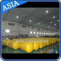 China Inflatable Buoys , Cylinder Shape For Water Triathlons Advertising on sale