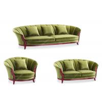 Buy cheap Modern Carved Green Living Room Sofa Set Kiln Dried Wood Frame High Desnity Foam product