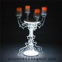 Quality CH (22) home floor standing acrylic candle holders for sale
