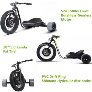 Buy cheap Three Wheel Powerful Electric Bike , Motorized Adults Powered Drift Trike from wholesalers