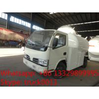 Quality hot sale dongfeng LHD 95hp 5500L bulk lpg gas delivery truck, best price 5.3M3 bulk lpg gas dispensing truck for sale for sale