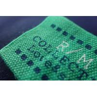 China Rectangle Screen Printing Custom Woven Labels For Clothes,Hats on sale
