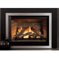 Quality Classic Designed Direct Vent Gas Fireplace Remote Control Big Front View for sale