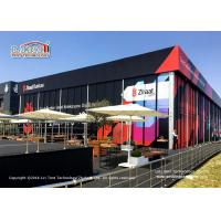 Buy cheap Aluminum Frame Outdoor Event Tents / Black Cube Structure Double Decker Tent from wholesalers