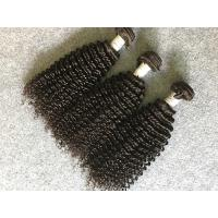 Quality Grade 8A Virgin Peruvian Human Hair Weave / Kinky Curly Hair Extensions for sale