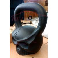 China OEM powder coated Sculpted ape Head kettlebell with different weight on sale