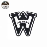 Quality W Shape Felt Embroidered Sports Patches Sew On 12 * 12.5CM Size For Jackets for sale