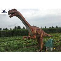Quality Outside Zoo Park Decorative Realistic Dinosaur Statues Water And Smoke Spraying for sale