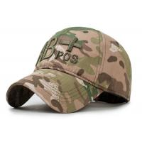 Quality Snapback Trucker Embroidered Baseball Caps AB Camouflage Cotton Material for sale