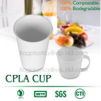 Quality Blister molding biodegradable durable using coffe cup, cpla cup of blister molding, corn starch tea cup for sale