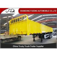 Buy cheap 2 / 3 Axles 40ft Flatbed Side Wall Semi Trailer Fence Height 600mm - 1800mm product