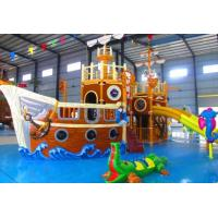 Quality Water Park Play Equipment / Outdoor Amusement Park Pirate Small Water Slide for sale
