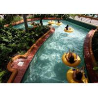 Quality Galvanized Steel Lazy River Water Park Red / Yellow / Green Customized for sale