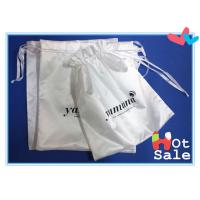 Quality Insulation And Flexible Well White Fabric Satin Dawstring Bag , Silk Bags For Gift for sale