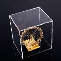 Quality Square Counter Acrylic Display , Case Plastic Stand Clear Storage Box Jars With Lids for sale