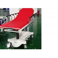 Quality Hydraulic Luxurious Emergency Patient Trolley 4 Pcs 6 Inch Central Locking Castors for sale