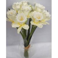 Quality real touch artificial flower 17 inch DAFFODUS BUNDLE X 9 for sale