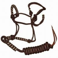 Quality 9mm Nose Band Horse Halter with 13mm x 2.45m Lead Rope, Different Colors are Available for sale