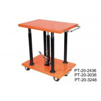 Quality Stationary Manual Post Lift Table Movable With Long Lasting Hydraulic Pump for sale