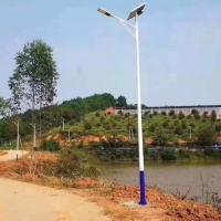 Quality Smart Solar Parking Lot Lights , Solar Powered Street Lights 7M Single Arm Pole for sale
