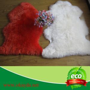 China 60x90cm high quality  long wool factory hot sale sheepskin rugs sheep fur rugs on sale