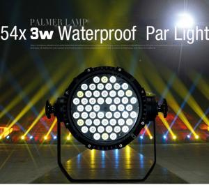 China Waterproof Par LED Event Lighting 162Watt 54X3W RGB DMX 512 Stage DJ Theatre Projector on sale